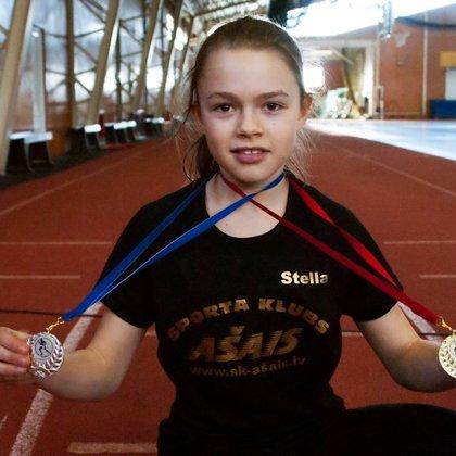 Stella Paltiņa U12 sacensībās Limbažu OC