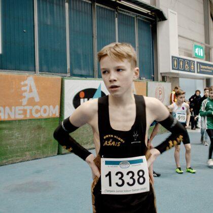 Tampere, 2020. gada martā. 300m sprints