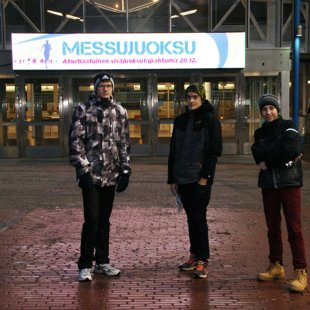 Garažas skrējiens Helsinkos, 2013. gada decembris